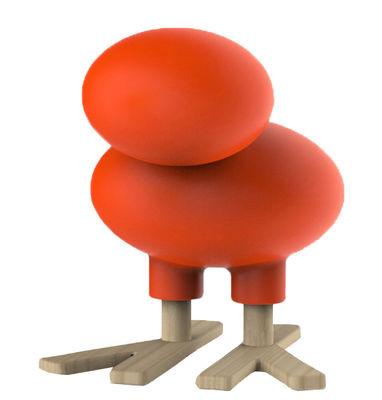 Foto Sgabello bambino Happy Bird / Decorazione - H 66 cm - Magis Collection Me Too - Arancione,Legno naturale - Materiale plastico