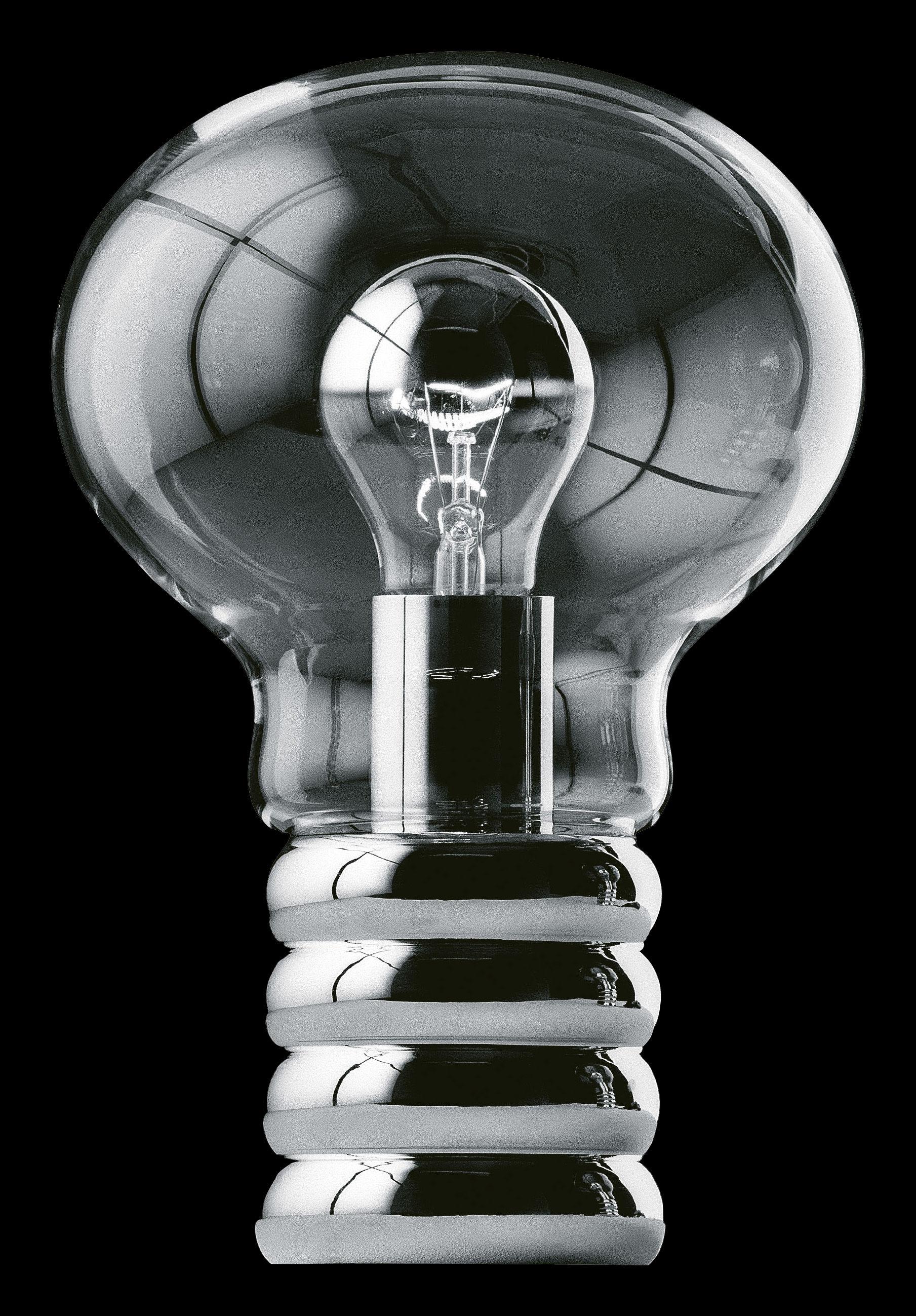 bulb table lamp chromium by ingo maurer. Black Bedroom Furniture Sets. Home Design Ideas