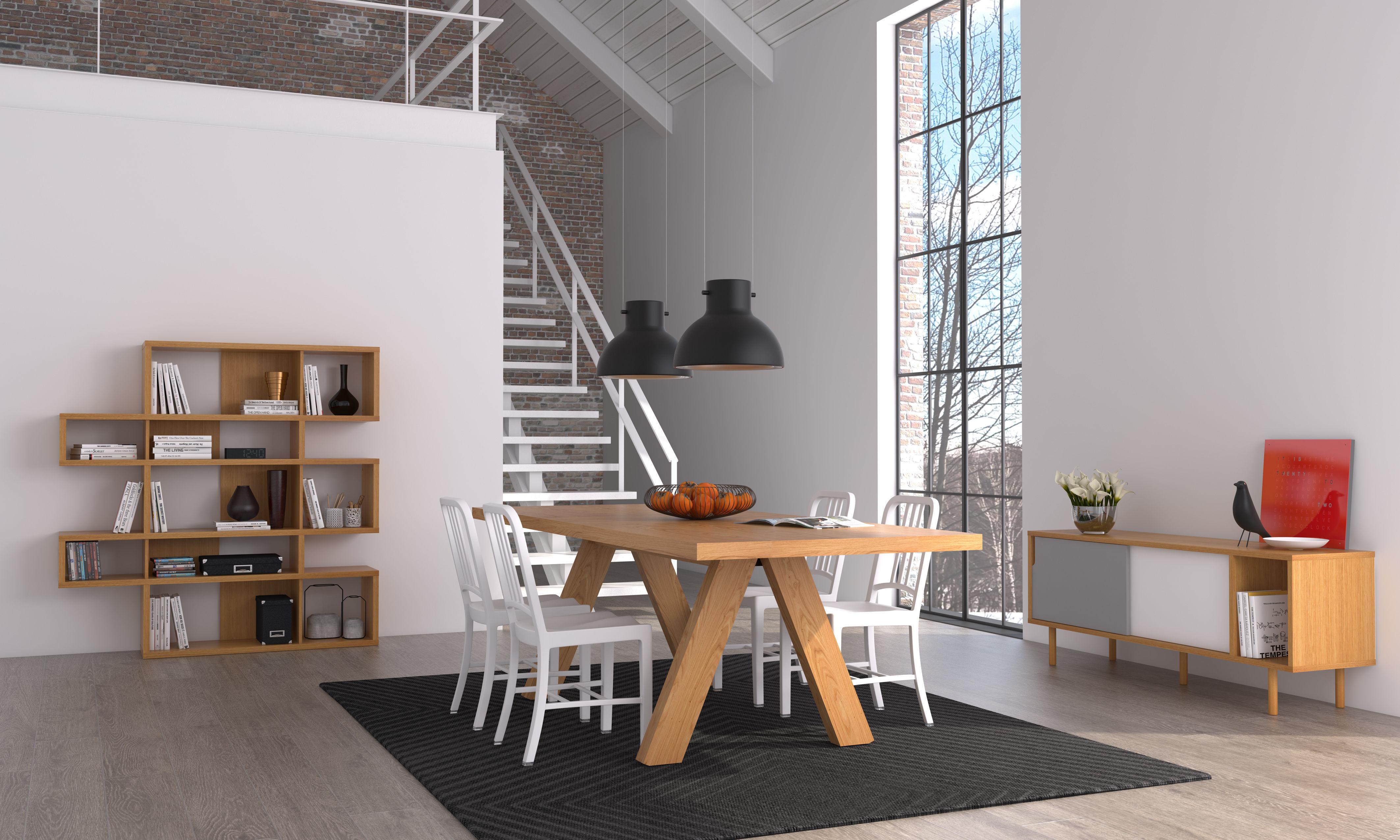 Scopri Tavolo Oak 200 X 100 Cm Quercia Di Pop Up Home