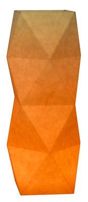 Lampe de table Tower / LED - H 27 cm - Pa Design Orange pâle,Orange vif en Papier