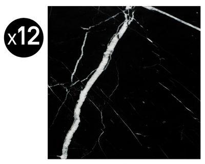 Foto Sticker Cabochons - marmo / Simil piastrelle antiche - Set da 12 di Maison Martin Margiela - Nero - Carta