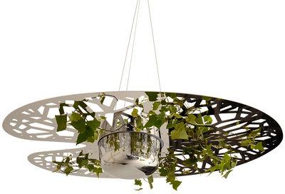 pot de fleurs n nuphar suspendre acier poli compagnie. Black Bedroom Furniture Sets. Home Design Ideas