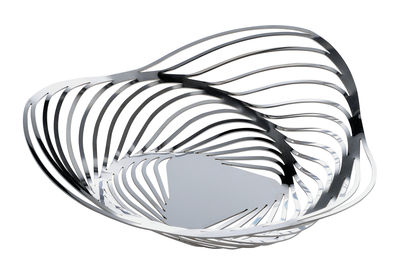 Foto Cesto Trinity - / Ø 26 x H 7 cm di Alessi - Acciaio lucidato - Metallo