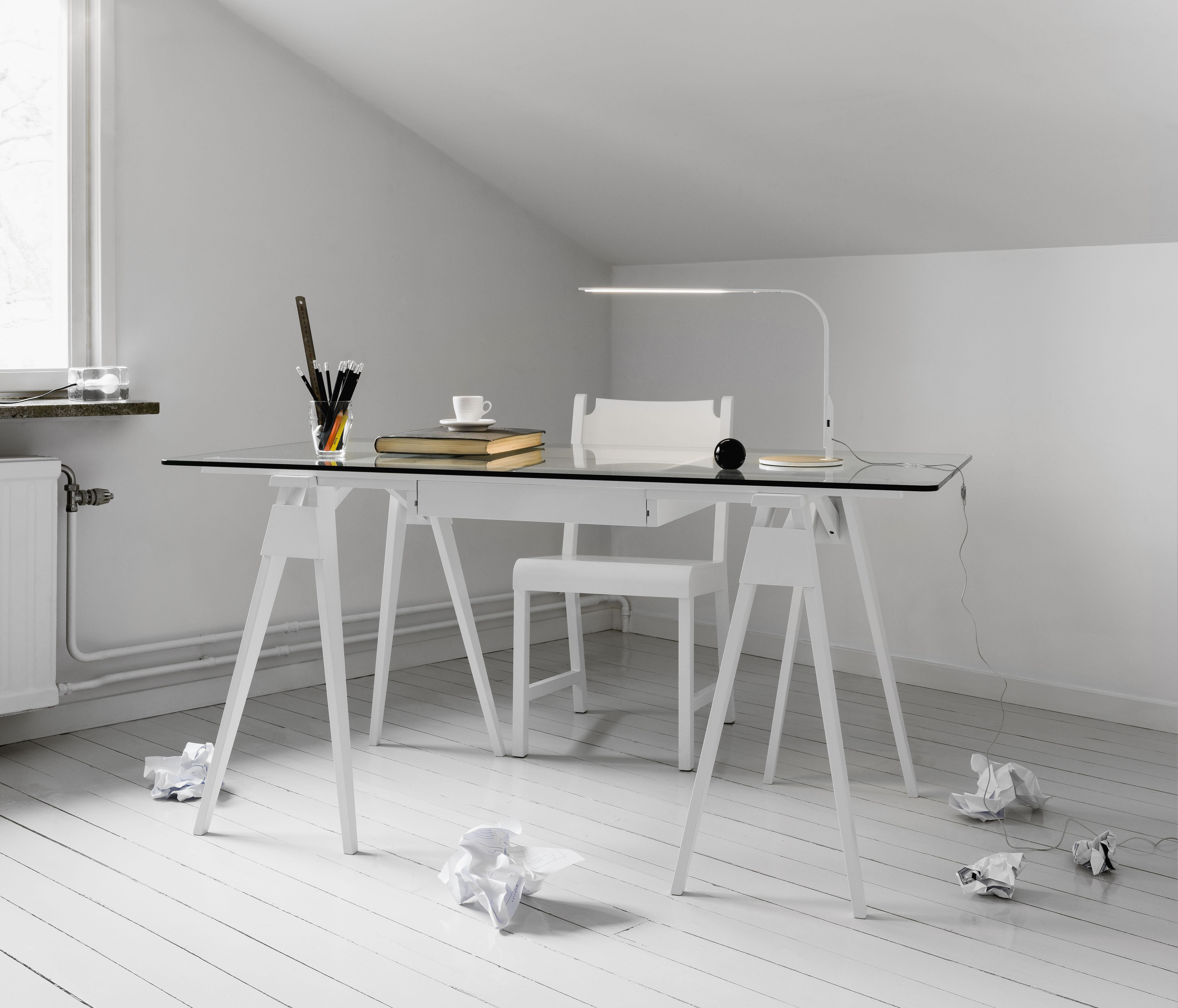 Plateau verre pour bureau arco 150 x 75 cm plateau - Plateau verre pour bureau ...