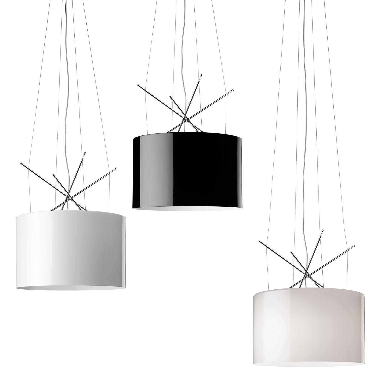 Scopri Sospensione Ray S, Metallo nero di Flos, Made In Design Italia
