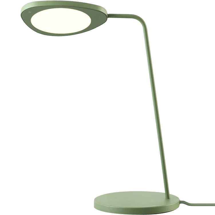 Leaf Table Lamp Green By Muuto