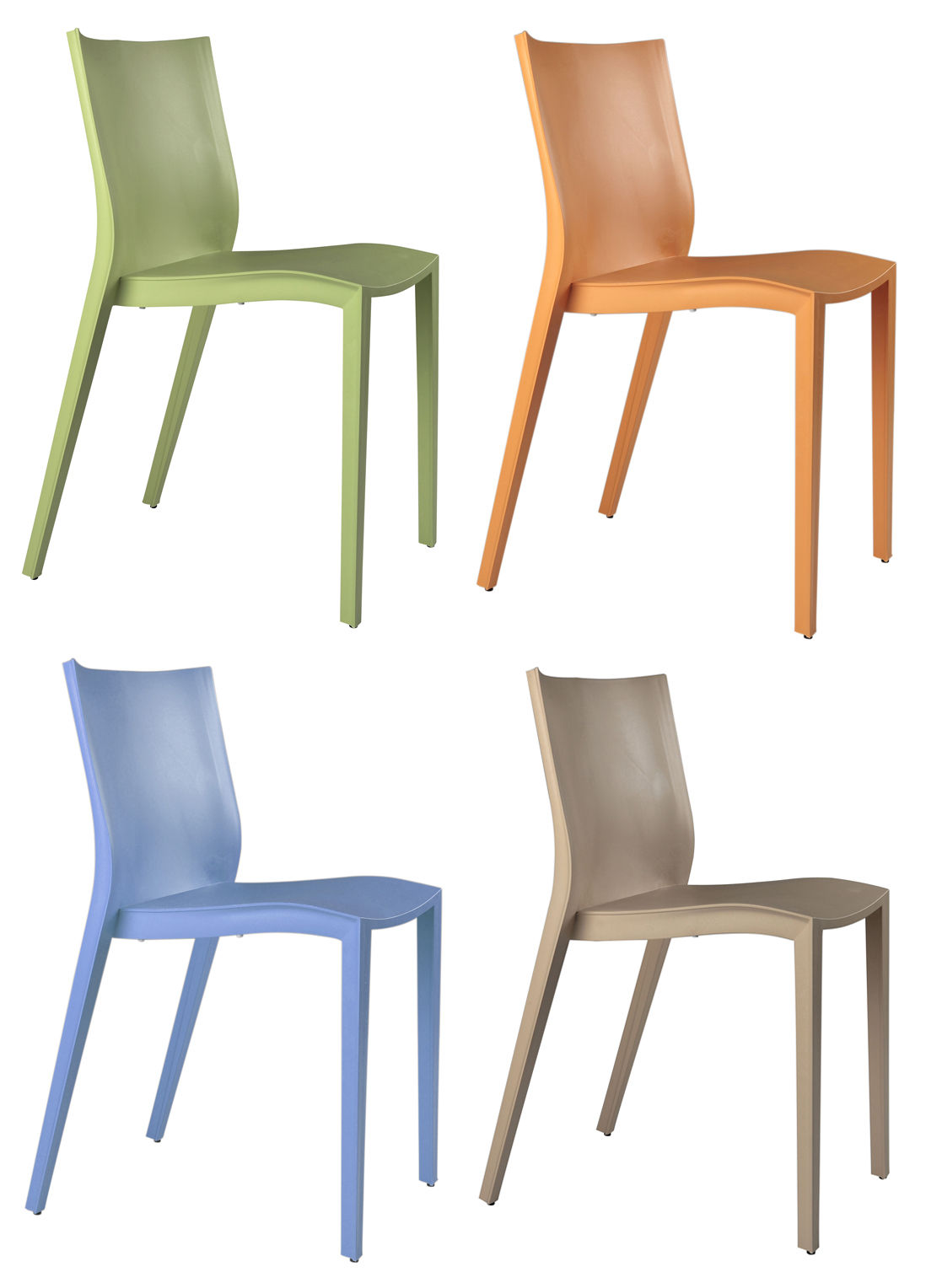 miniature mini slick slick lot de 4 chaises vert orange bleu ciel beige xo. Black Bedroom Furniture Sets. Home Design Ideas