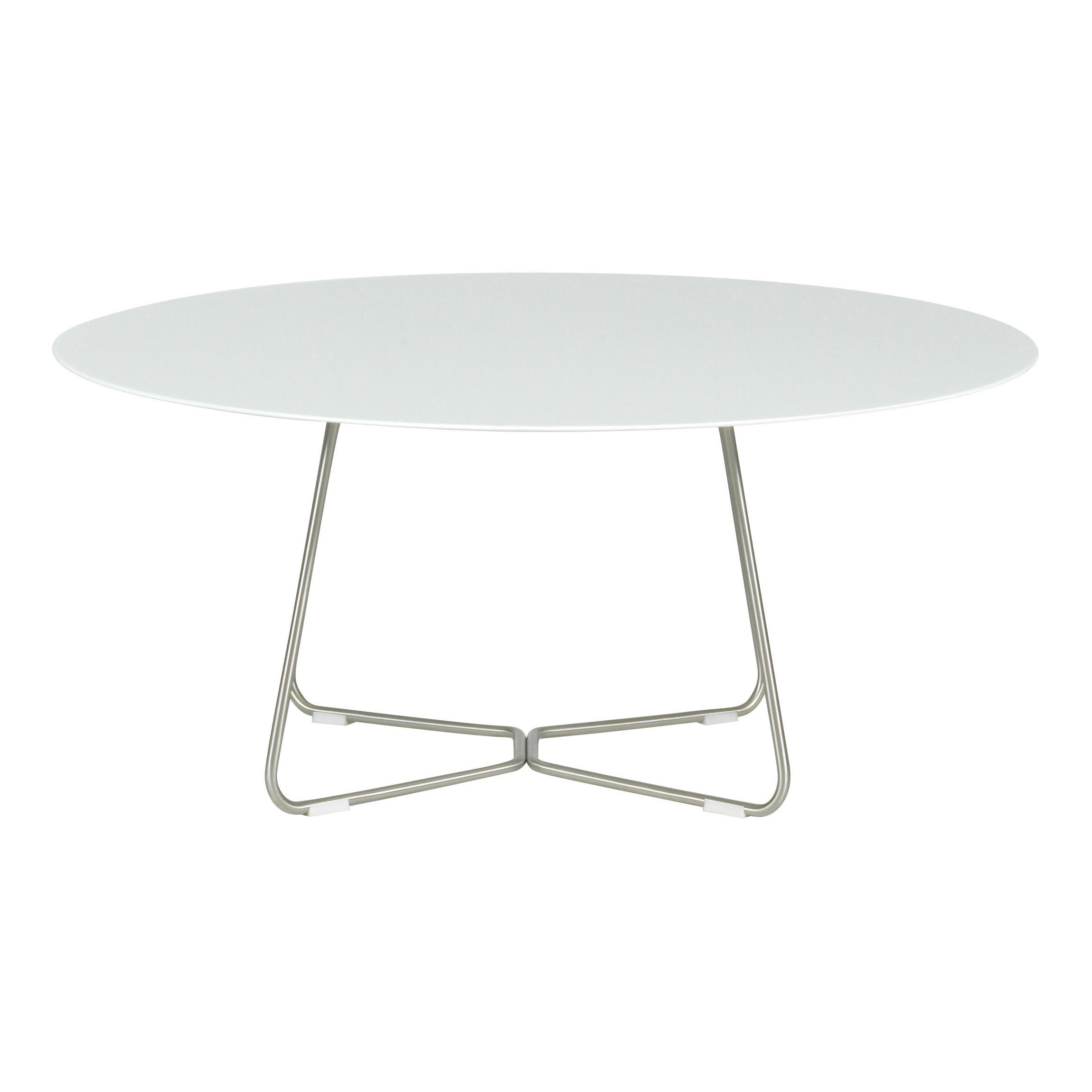 Slim Coffee Table H 40 Cm 90 Cm 90 Cm Corian White By Viteo