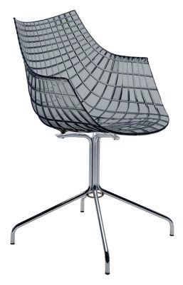 Foto Poltrona Meridiana di Driade - Affumicato grigio - Materiale plastico