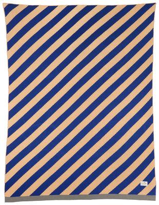 Foto Plaid per bambini Little Stripe - / 80 x 100 cm di Ferm Living - Rosa,Blu scuro - Tessuto