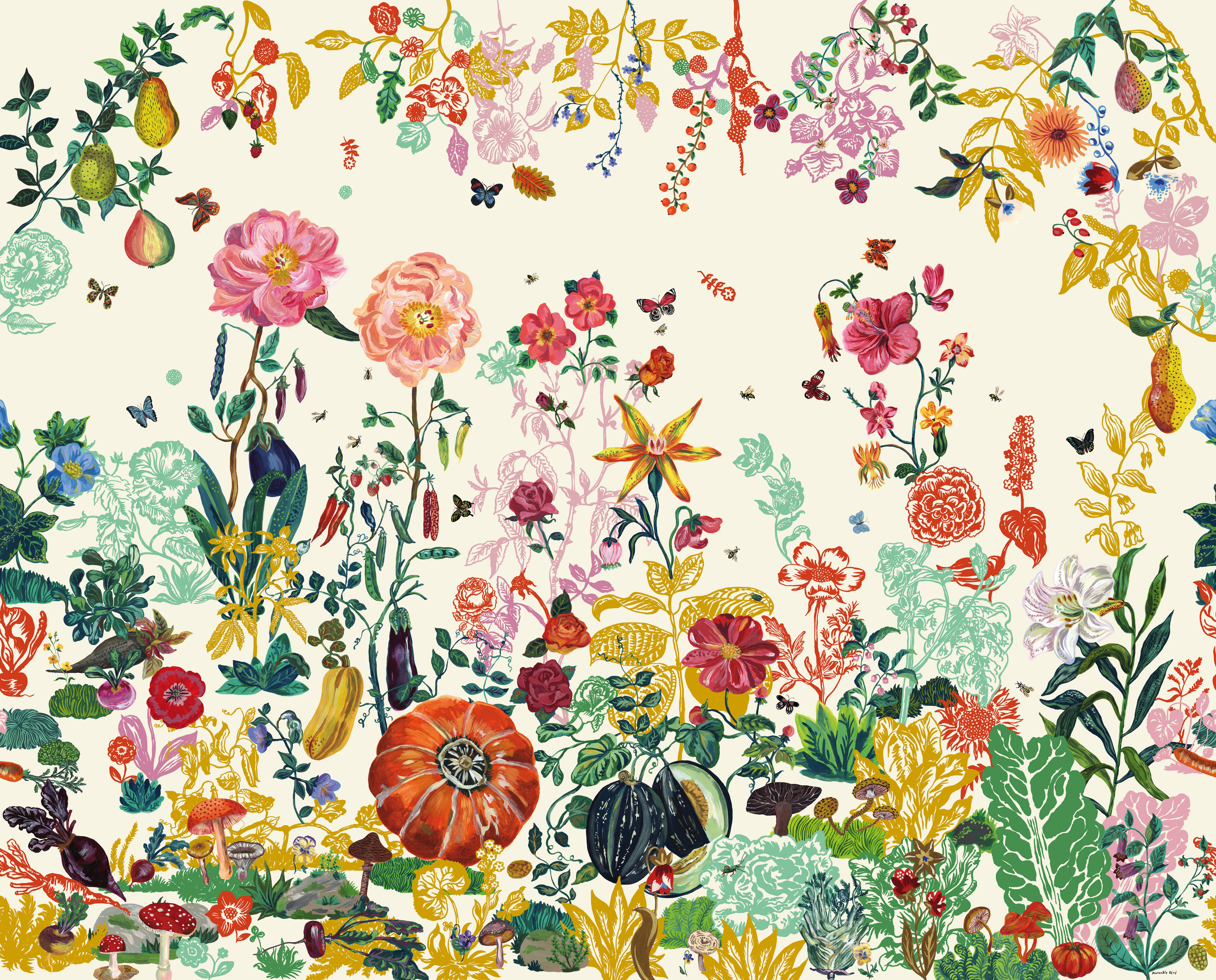jardin wallpaper cream garden by domestic