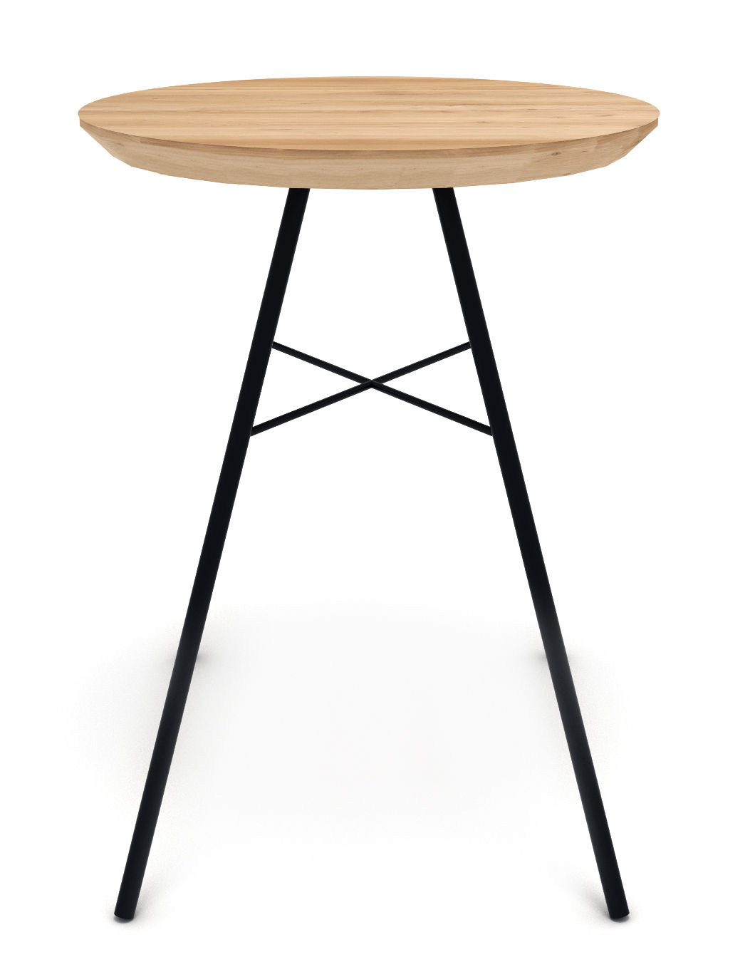 disc stool wood metal h 46 cm natural oak black by. Black Bedroom Furniture Sets. Home Design Ideas