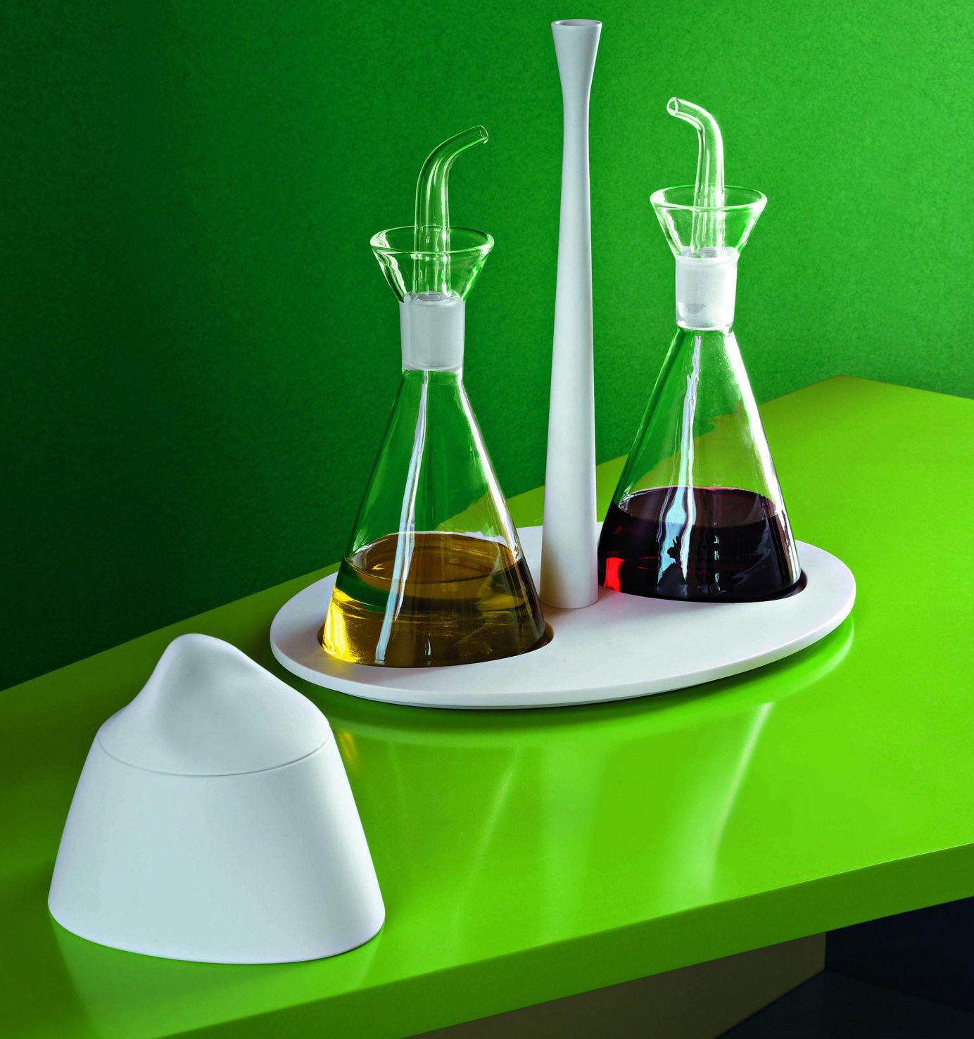 Ensemble huilier et vinaigrier colombina support noir alessi for Solidworks design table zoom