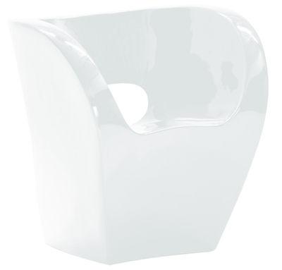 Foto Poltrona Little Albert - versione laccata di Moroso - Bianco laccato - Materiale plastico