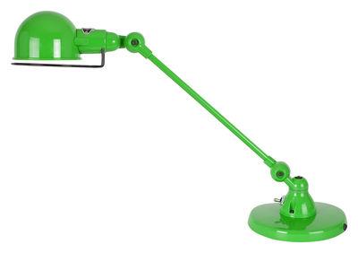 Lampe de table Signal / 1 bras - L 40 cm - Jieldé Vert pomme brillant en Métal