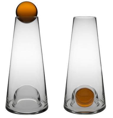 Carafe fia 1 l transparent ambre design house stockholm - Semaine du mobilier chez made in design jusqua ...