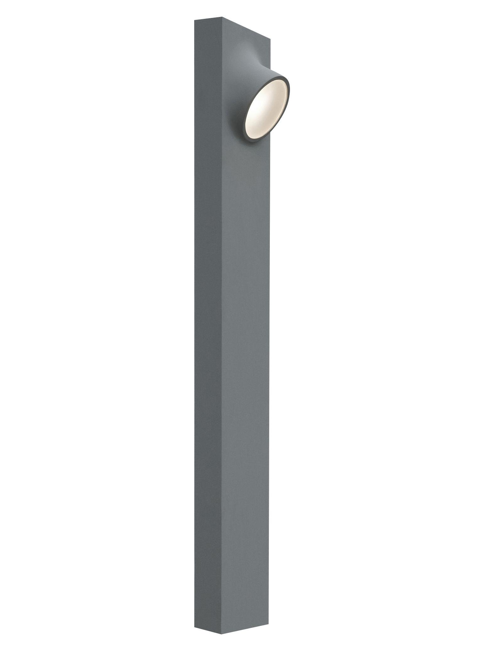 Lampadaire ciclope double led ext rieur h 90 cm gris for Luminaire exterieur double