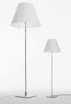 Lampadaire costanza h 120 160 cm blanc pied aluminium luceplan - Bhv luminaires lampadaires ...