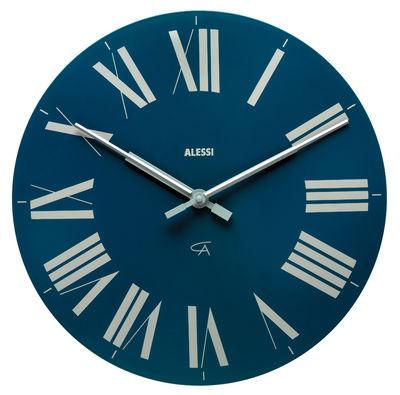 horloge murale firenze bleu fonc alessi. Black Bedroom Furniture Sets. Home Design Ideas