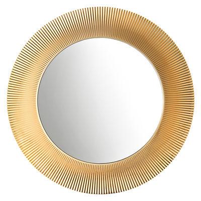 Foto Specchio All Saints - / Ø 78 cm di Kartell - Oro metallizzato - Materiale plastico