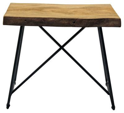 Tabouret old times h 47 cm bois m tal bois naturel - Semaine du mobilier chez made in design jusqua ...