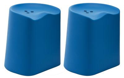 Foto Sgabello Butt - H 49 cm di Established & Sons - Azzurro - Materiale plastico