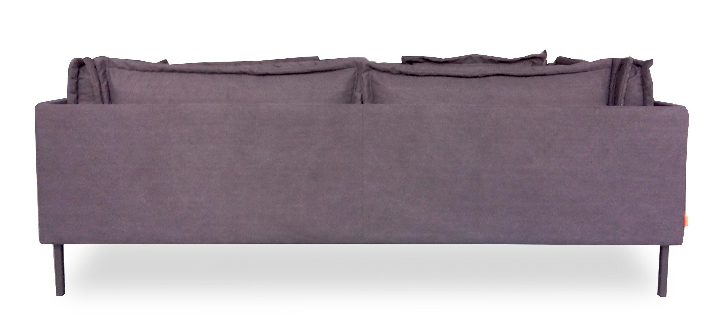 Canap droit trexx 3 places l 220 cm exclusivit charbon dutsh pour m - Canape made in design ...