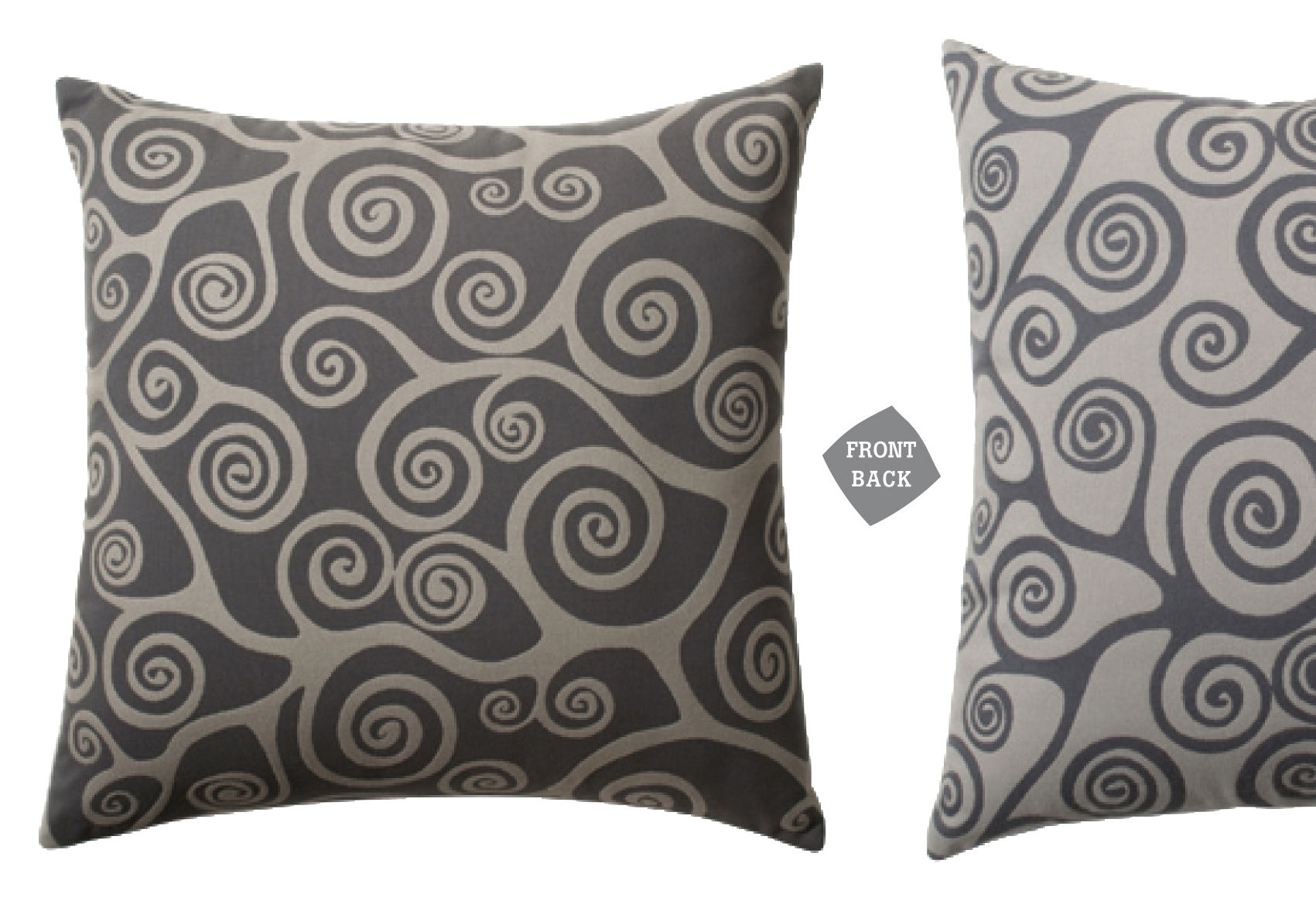 Soft ware spirale outdoor cushion outdoor use 55x55 cm for Coussin exterieur 55x55