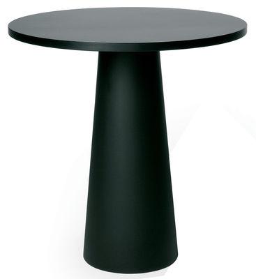 Foto Piano del tavolo Container - Ø 70 cm di Moooi - Nero - Materiale plastico