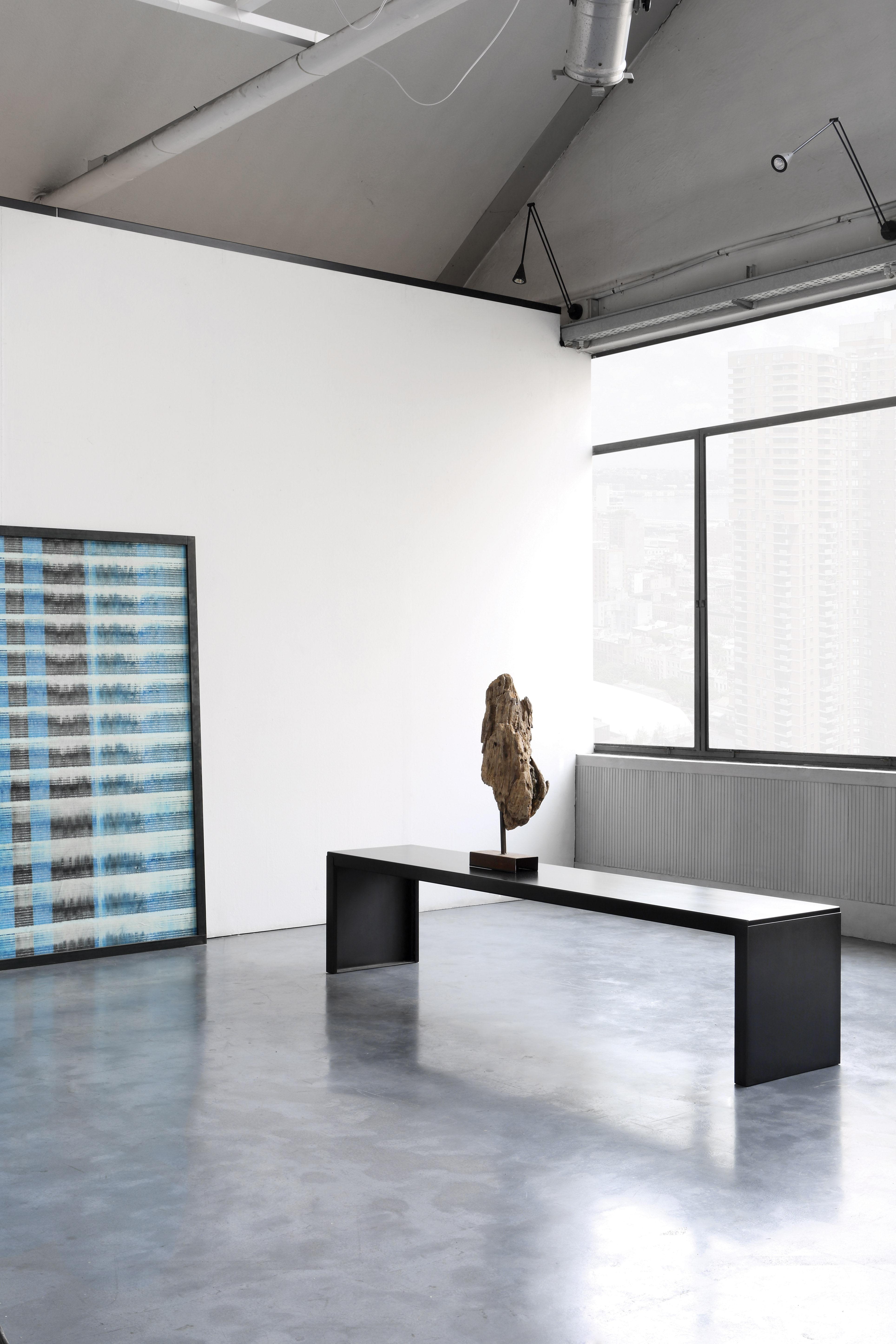 banc big irony l 210 cm m tal l 210 cm noir zeus. Black Bedroom Furniture Sets. Home Design Ideas