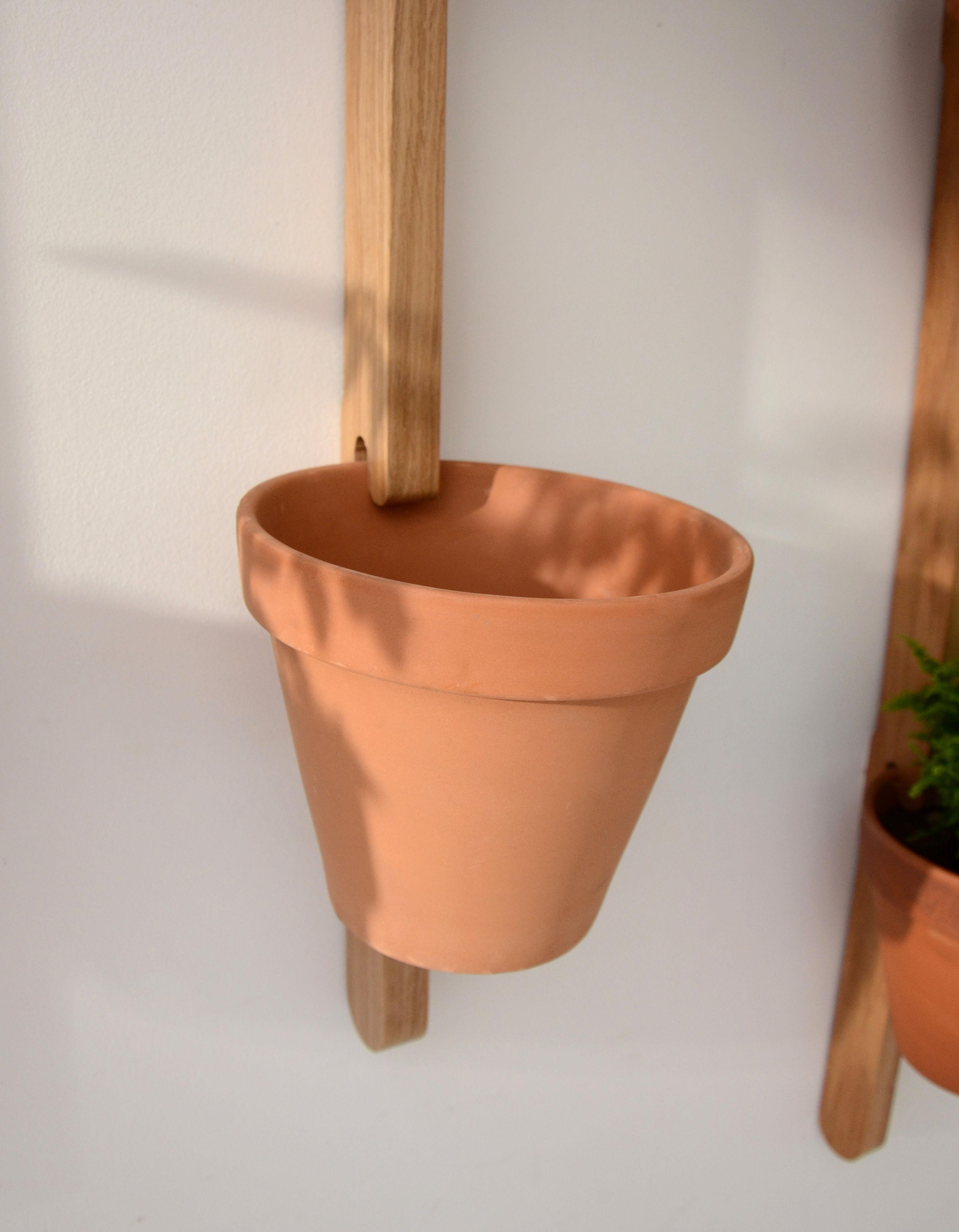 support mural xpot pour 5 pots ou tag res de fleurs h 250 cm ch ne naturel compagnie. Black Bedroom Furniture Sets. Home Design Ideas