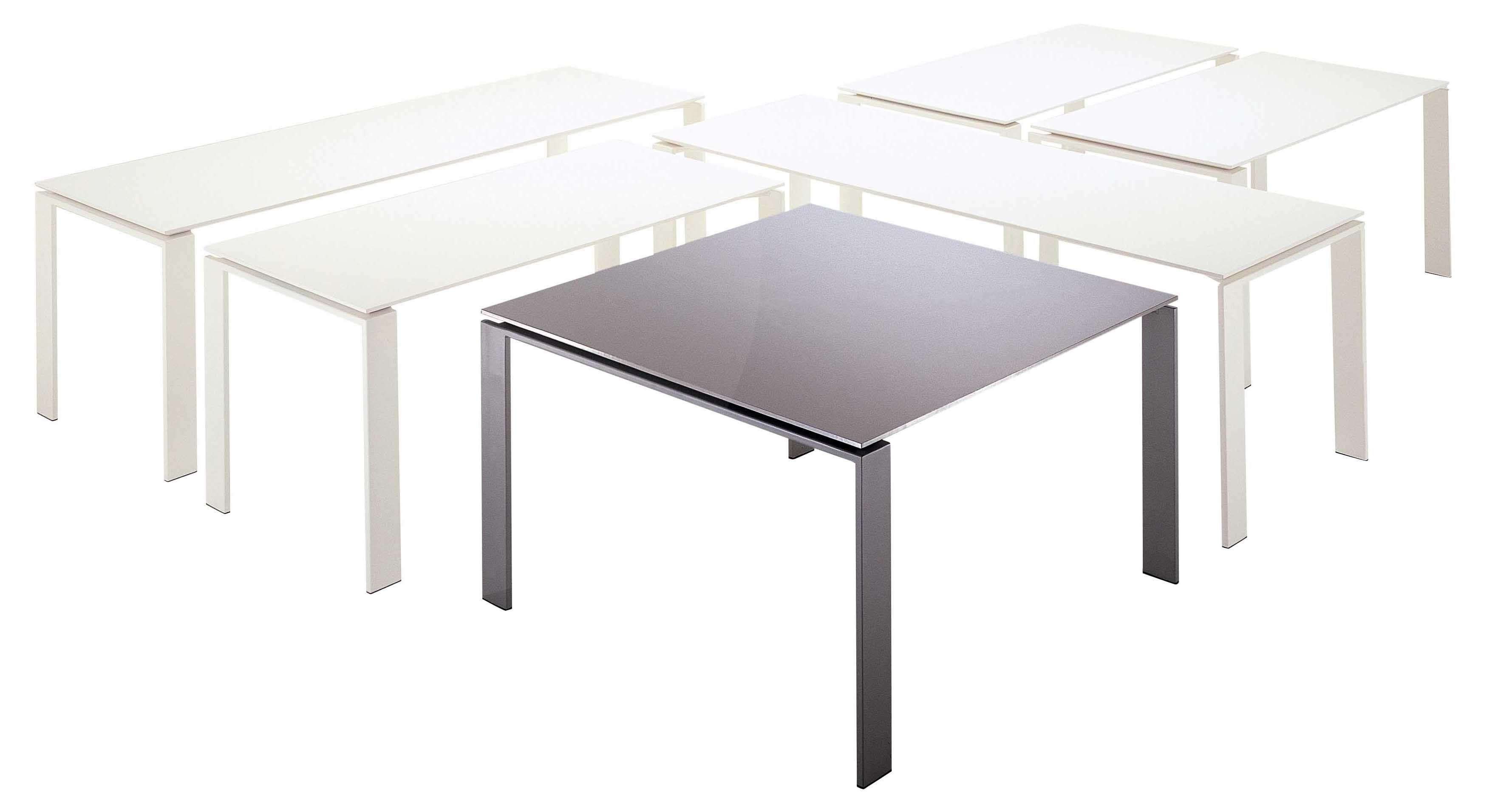 Scopri tavolo four nero 190 cm di kartell made in design - Tavolo four kartell prezzo ...