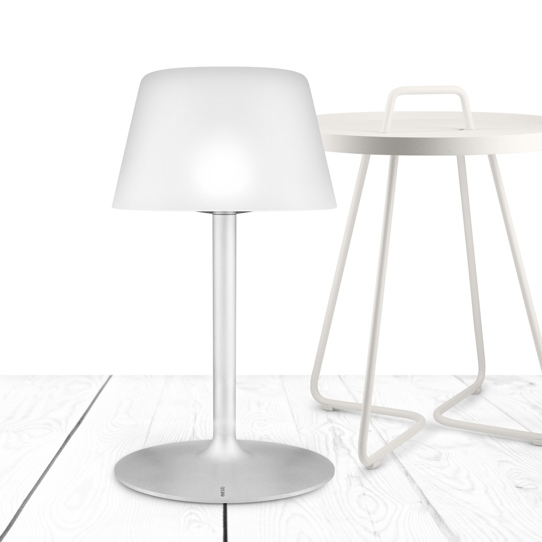 lampe solaire sunlight large sans fil h 50 cm large blanc pied alu eva solo. Black Bedroom Furniture Sets. Home Design Ideas