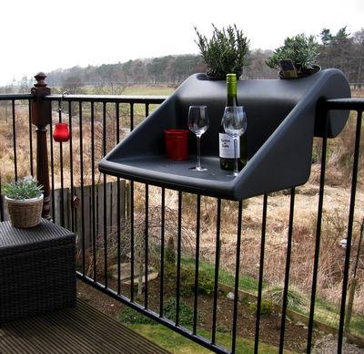 table d 39 appoint balkonzept suspendre pour balcons jardini re int gr e anthracite rephorm. Black Bedroom Furniture Sets. Home Design Ideas