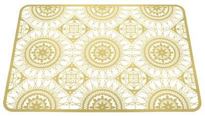 Foto Set da tavolo Italic Lace / 45 x 32 cm - Sottopiatto - Driade Kosmo - Ottone dorato - Metallo Sottopentola