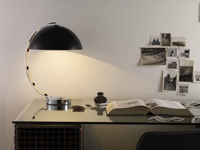 lampe de table london h 45 cm noir pied chrom original btc. Black Bedroom Furniture Sets. Home Design Ideas