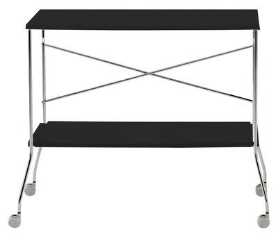 Foto Carrello Flip di Kartell - Nero opaco - Materiale plastico tavolo d'appoggio