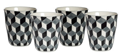 Foto Mug 3-D /  Set da 4 - Pols Potten - Bianco,Blu,Nero - Ceramica