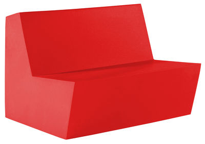 Foto Divano destro Primary Duo - 2 posti di Quinze & Milan - Rosso - Materiale plastico