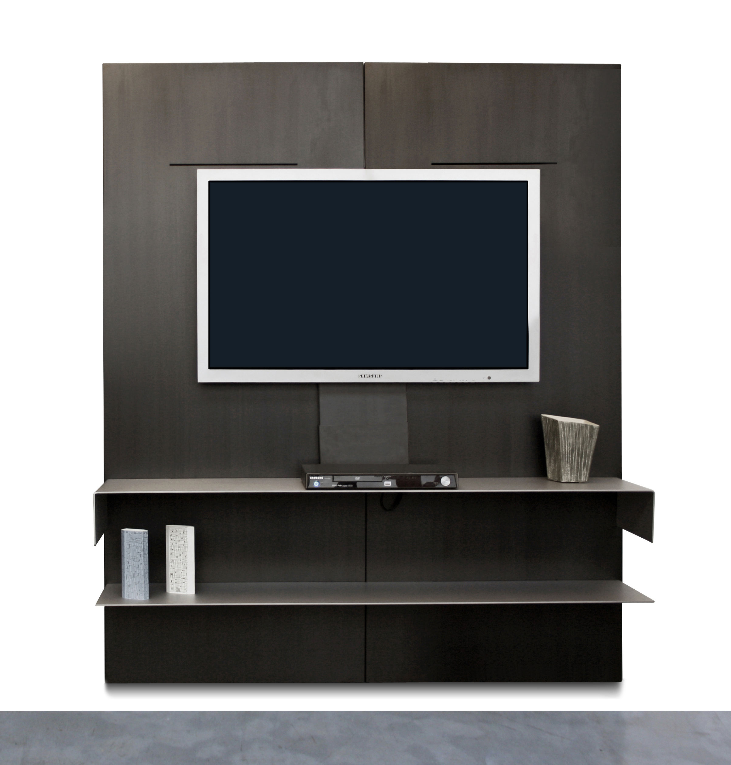 etag re iwall tv modulable acier zeus. Black Bedroom Furniture Sets. Home Design Ideas