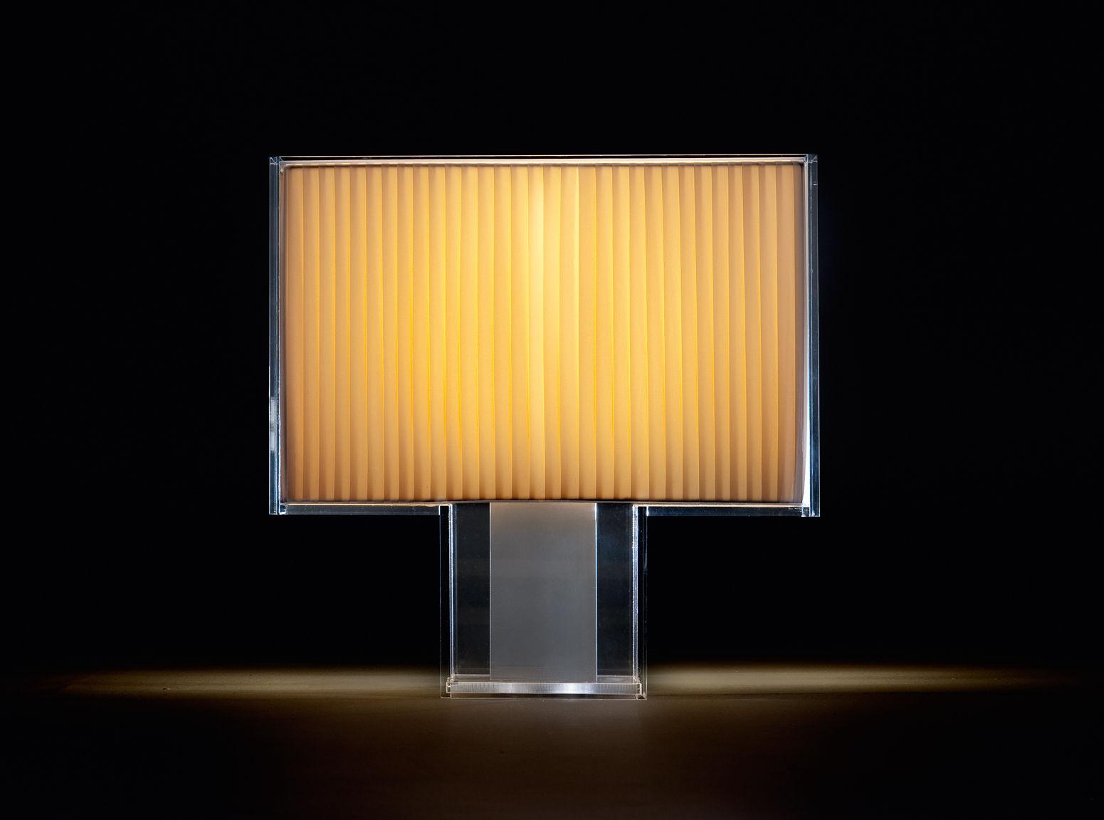 Lampe de table tati pliss kartell - Lampe de bureau kartell ...
