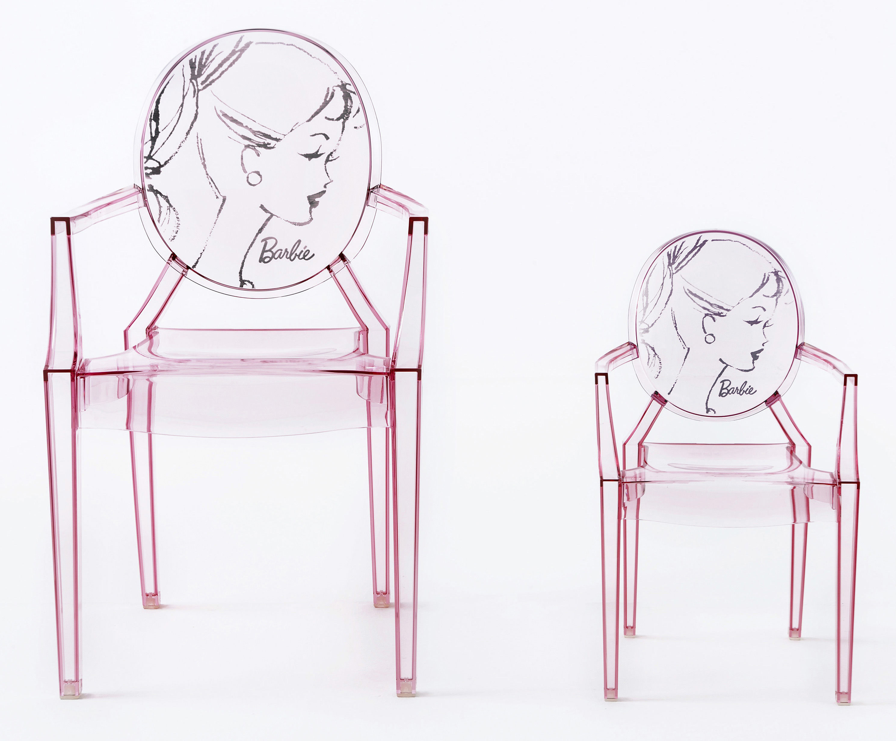 Lou Lou Ghost Barbie Children armchair Pink by Kartell