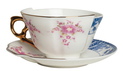 Foto Tazza da tè Hybrid Zenobia - / Set tazza + sottopiattino di Seletti - Multicolore - Ceramica