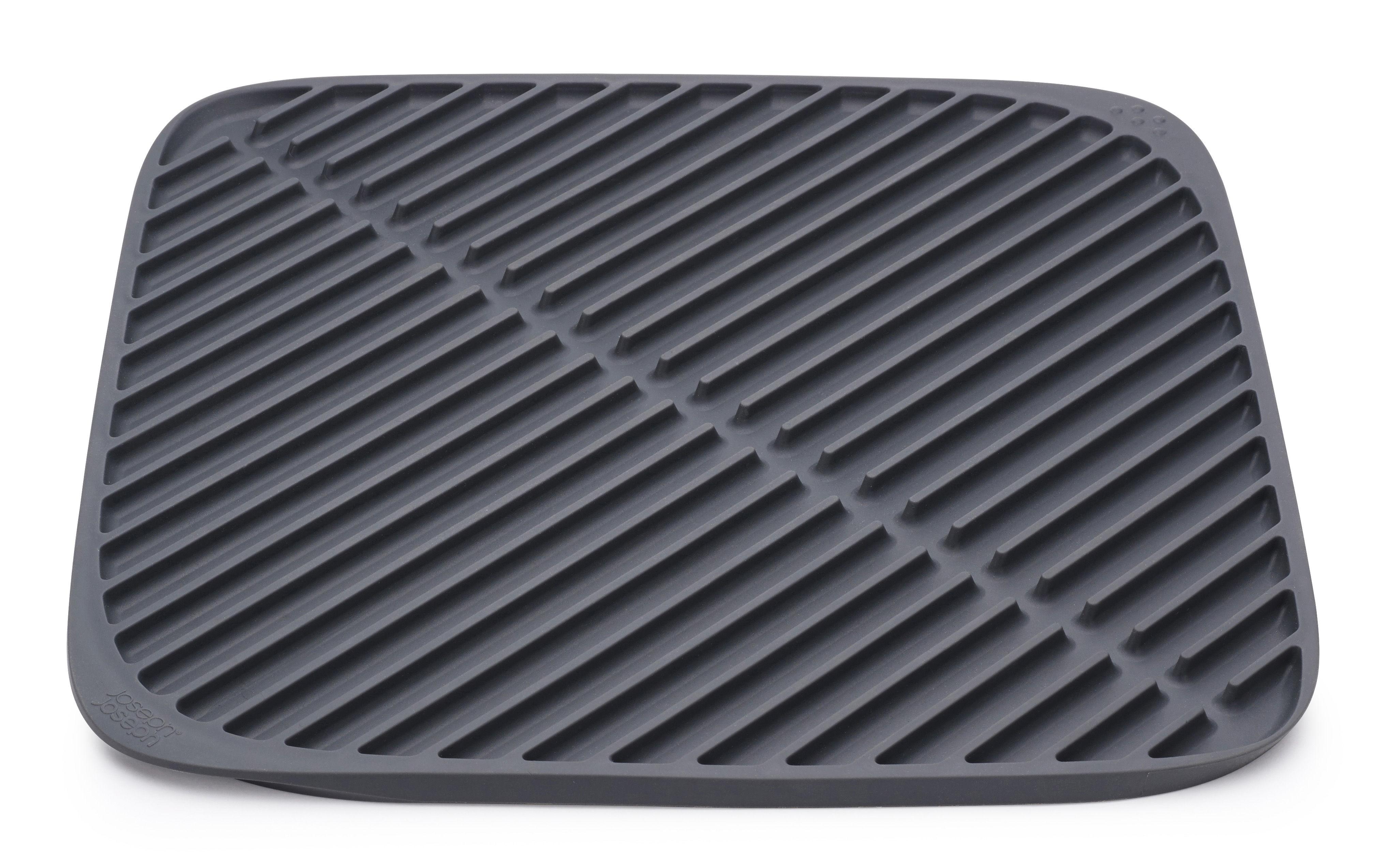 tapis d 39 vier flume egouttoir nouvelle version gris joseph joseph. Black Bedroom Furniture Sets. Home Design Ideas