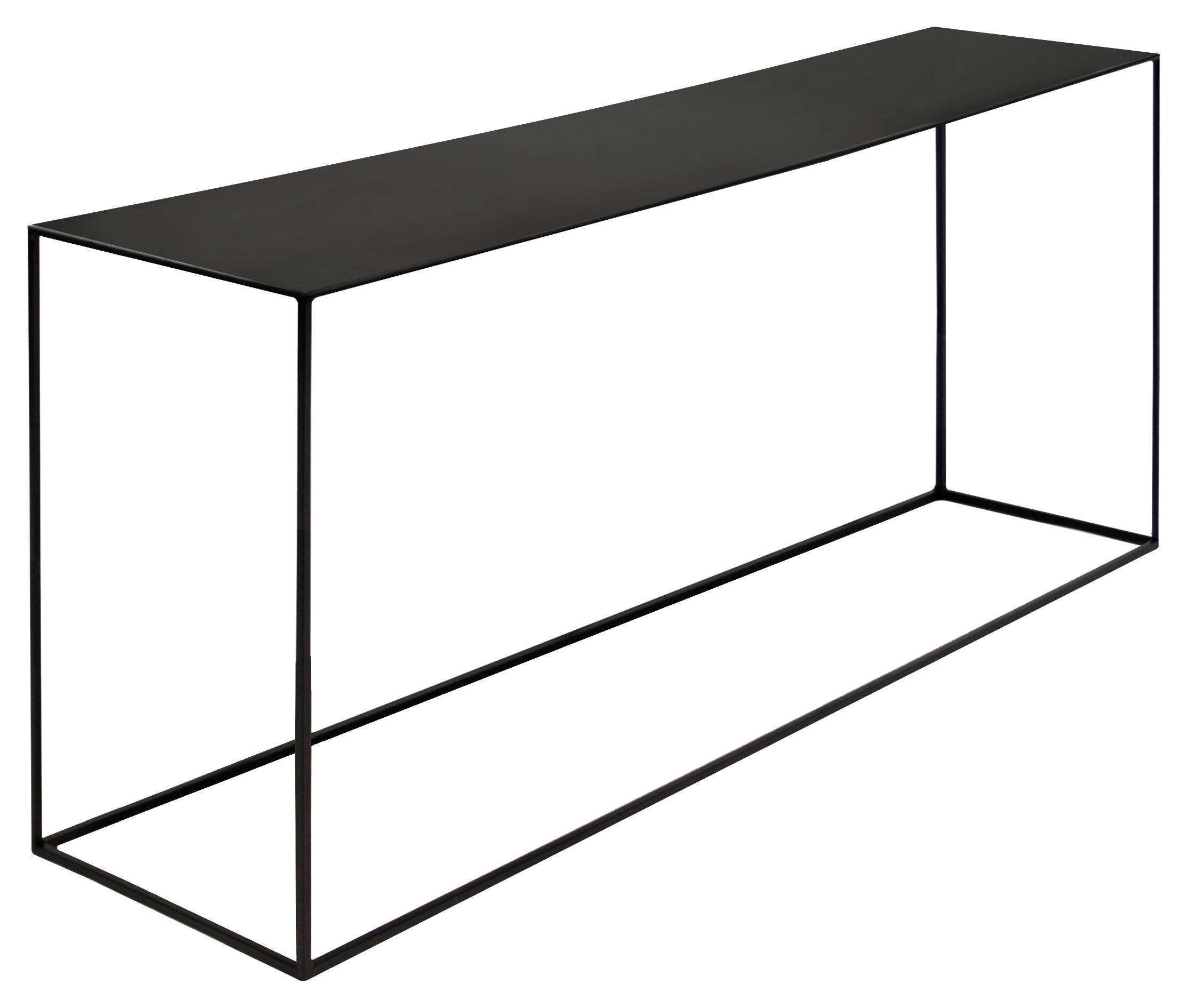 console basse slim irony 124 x 31 x h 64 cm m tal noir pied noir cuivr zeus. Black Bedroom Furniture Sets. Home Design Ideas