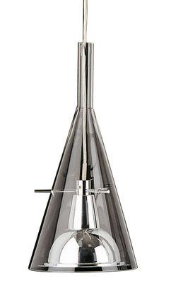 Foto Sospensione Flûte 1 - Magnum di Fontana Arte - Cromato,Trasparente - Metallo