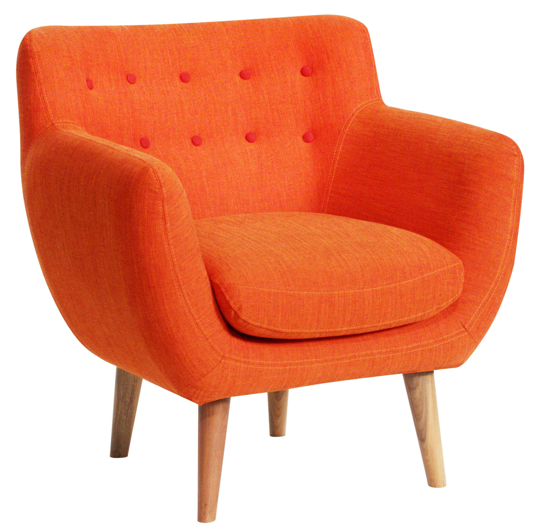 fauteuil rembourr coogee rouge mandarine boutons grenadine sentou edition. Black Bedroom Furniture Sets. Home Design Ideas
