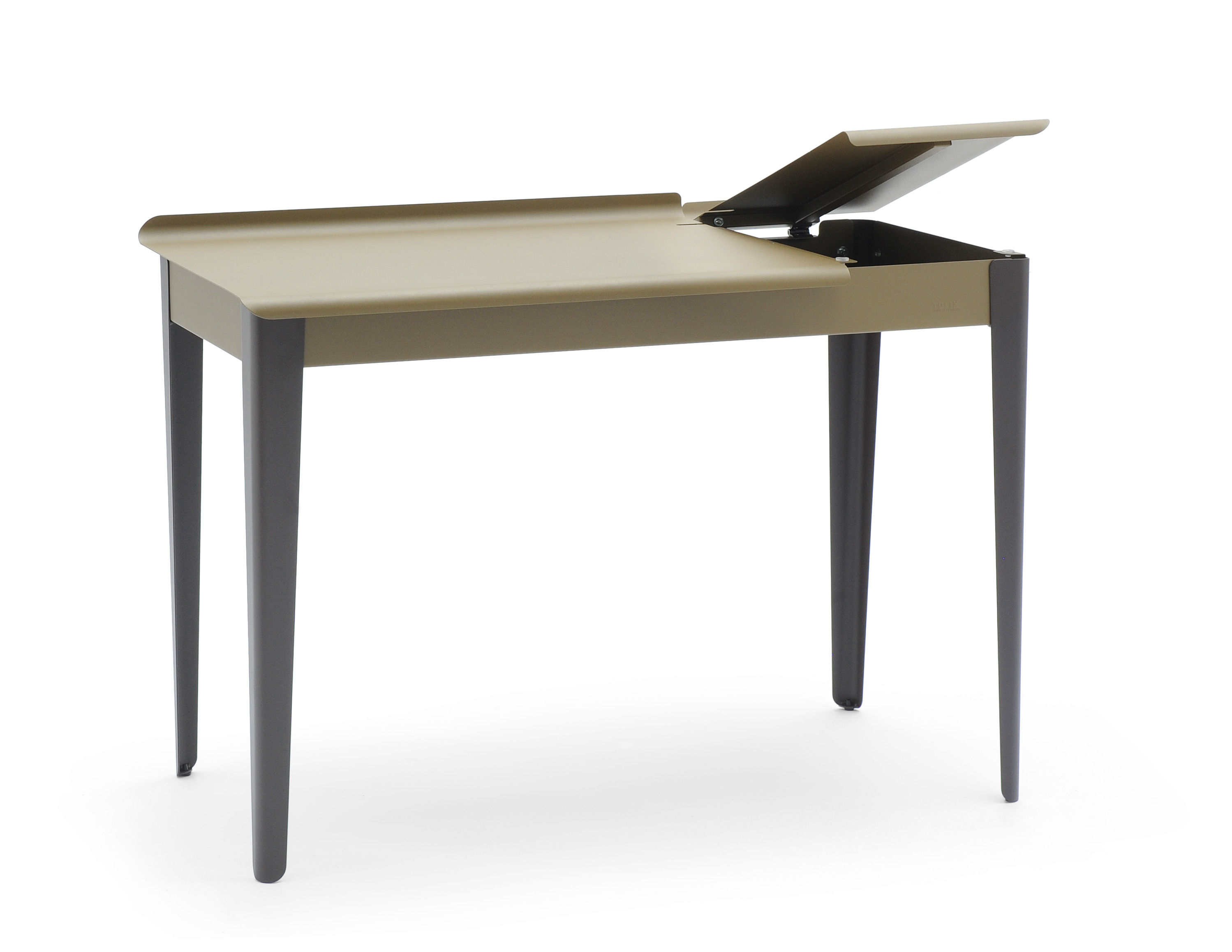 clapet desk greige charcoal grey legs by tolix. Black Bedroom Furniture Sets. Home Design Ideas