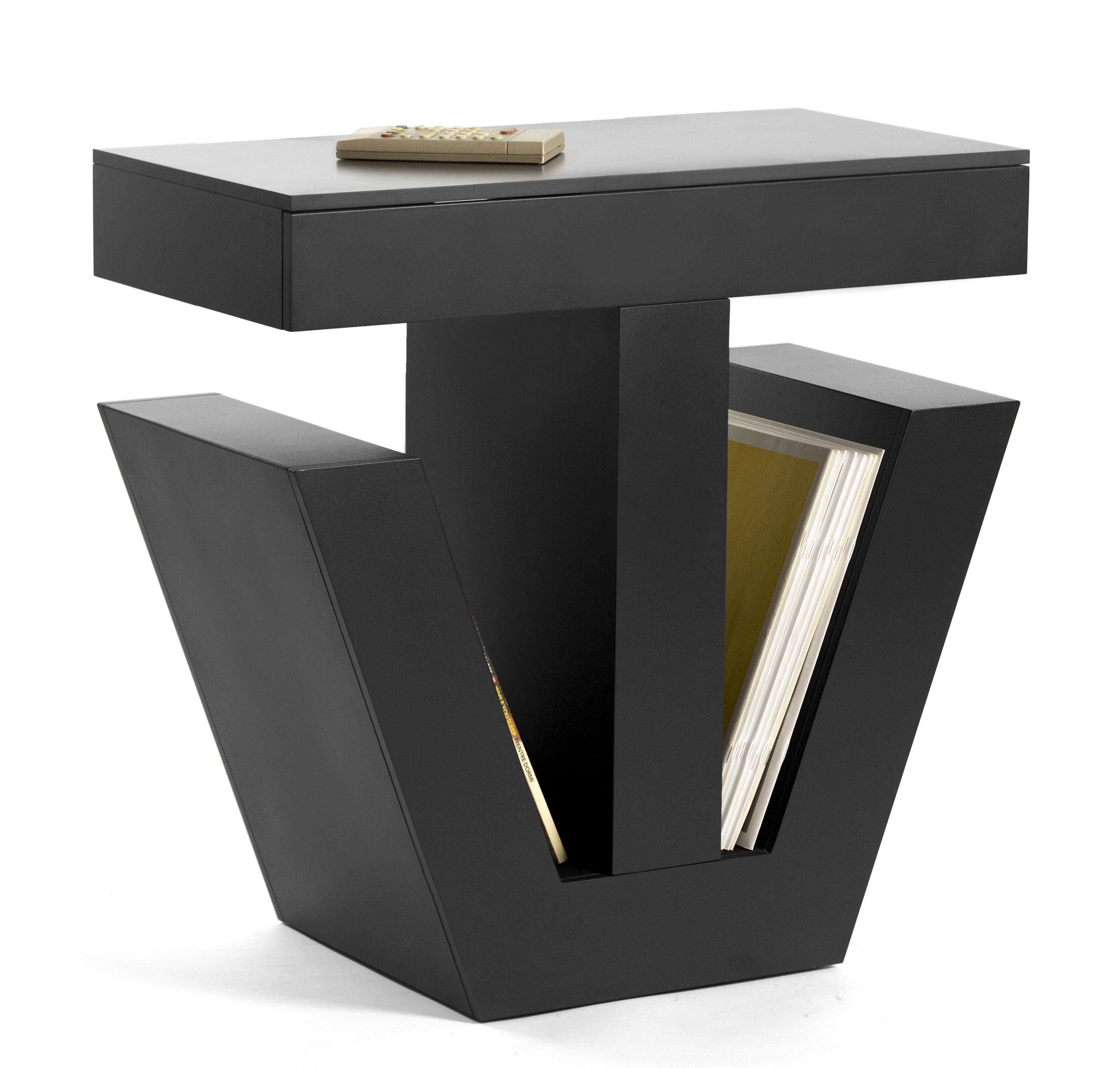 Meuble tv tiv r dition 1992 noir internoitaliano for Reedition meuble design