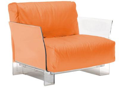 Foto Poltrona imbottita Pop Outdoor di Kartell - Arancione - Materiale plastico